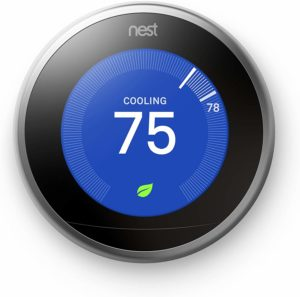 Learning Home Thermostat in Stainless Steel by Nest