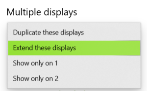selecting multiple displays